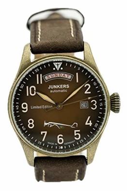 Junkers Automatik Herren Flieger Uhr Limited Edition Olympische Spiele Berlin 1936 5155-5 - Made in Germany - 1