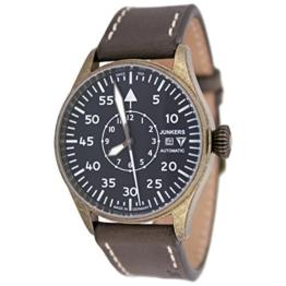 Junkers Automatik Limited Edition Beobachtungsuhr Vintage Leder Armband 3554-2 - 1