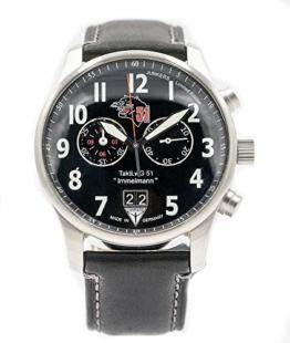 Junkers Chronograph Herren Flieger Uhr Limited Edition Luftwaffengeschwader 51 Immelmann 3666-1 - Made in Germany - 1