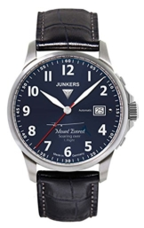 Junkers Herren Analog Automatik Uhr mit Leder Armband 68643 - 1