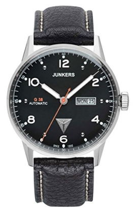 Junkers Herren Analog Automatik Uhr mit Leder Armband 69662 - 1