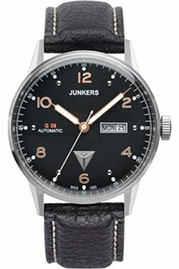 Junkers Herren Analog Automatik Uhr mit Leder Armband 69665 - 1