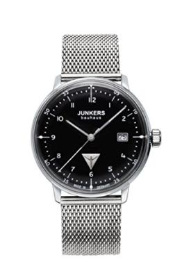 Junkers Herren Analog Quarz Uhr mit Edelstahl Armband 6046M2 - 1