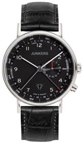 Junkers Herren Analog Quarz Uhr mit Leder Armband 67342 - 1