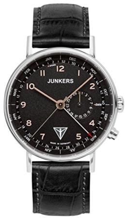 Junkers Herren Analog Quarz Uhr mit Leder Armband 67345 - 1