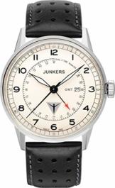 Junkers Herren Analog Quarz Uhr mit Leder Armband 69465 - 1