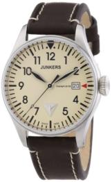 Junkers Herren-Armbanduhr XL Analog Quarz Leder 6144-5 - 1