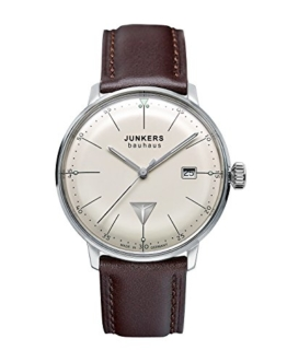 Junkers Herren-Armbanduhr XL Bauhaus Quarz Leder 60705 - 1