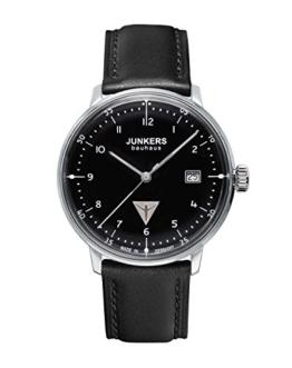 Junkers Herren-Armbanduhr XL Bauhaus Ronda515 Analog Quarz Leder 60462 - 1