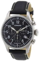 Junkers Herren-Armbanduhr XL Cockpit JU52 Chronograph Quarz Leder 61802 - 1