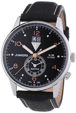 Junkers Herren-Armbanduhr XL G 38 Analog Quarz Leder 69405 - 1