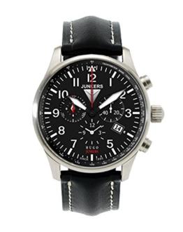 Junkers Herren-Armbanduhr XL Hugo Chronograph Quarz Leder 66842 - 1