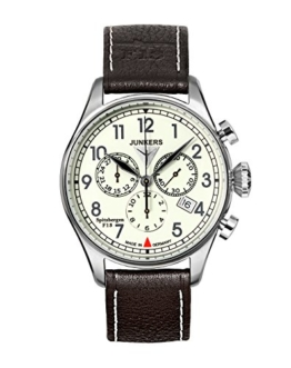 Junkers Herren-Armbanduhr XL Spitzbergen F13 Chronograph Quarz Leder 61865 - 1