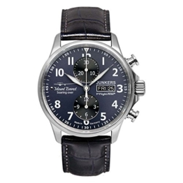 Junkers Herren Chronograph Automatik Uhr mit Leder Armband 6824S3 - 1