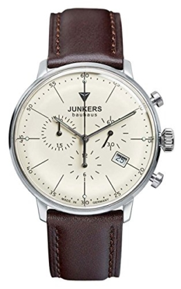 Junkers Herren Chronograph Quarz Uhr mit Leder Armband 60885 - 1