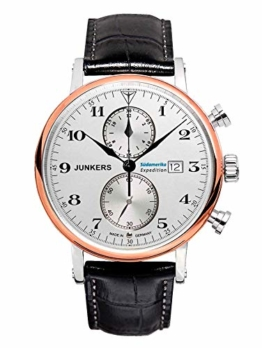 Junkers Herren Chronograph Quarz Uhr mit Leder Armband 65865 - 1