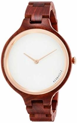 KERBHOLZ Hinze Rosewood Uhr Damenuhr Holz Analog braun rosé - 1