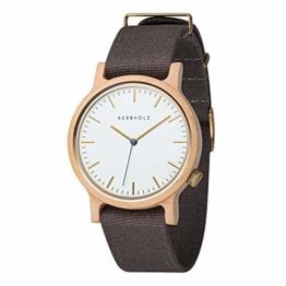 Kerbholz Unisex Erwachsene Analog Quarz Uhr mit Stoff Armband 4251240407203 - 1