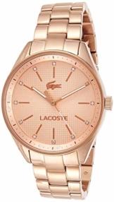 Lacoste Damen-Armbanduhr PHILADELPHIA Analog Quarz Edelstahl beschichtet roségold, 2000899 - 1