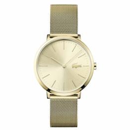 Lacoste Damen Datum klassisch Quarz Uhr mit Edelstahl Armband 2001000 - 1
