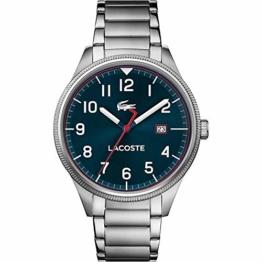 Lacoste Herren Analog Quarz Uhr mit Edelstahl Armband 2011022 - 1