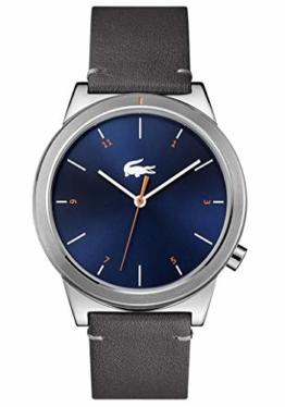 Lacoste Herren Analog Uhr Urban mit Leder Armband - 1