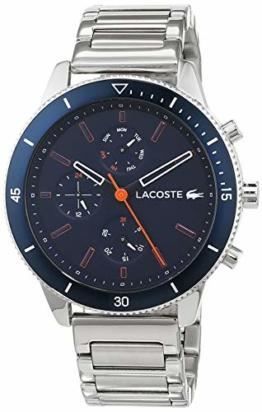 Lacoste Herren Multi Zifferblatt Quarz Uhr mit Edelstahl Armband 2010995 - 1