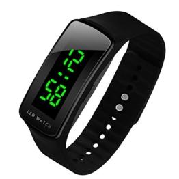 LED Uhr Sportuhr Wasserdichte Digitaluhr (Schwarz) - 1