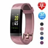 Letsfit Fitness Armband Farbbildschirm mit Pulsmesser, Fitness Tracker IP68 Wasserdicht 0,96 Zoll Aktivitätstracker Schrittzähler Pulsuhren Smart Watch für Herren Damen MEHRWEG - 1