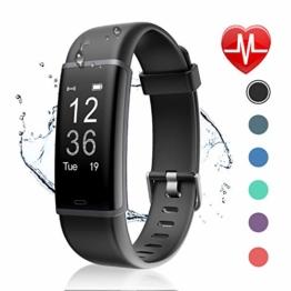 Letsfit Fitness Tracker mit Pulsmesser Fitness Armband Wasserdicht IP67 Schrittzähler Uhr Pulsuhren Smart Armband Uhr Aktivitätstracker mit Schlaf Monitor Kompatibel mit Android iOS Smartphone - 1