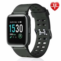 Letsfit Smartwatch 1,3 Zoll Touchscreen Fitness Armband mit Pulsmesser Fitness Tracker 14 Verschiedene Sportmodi 5ATM wasserdicht Sport Uhr Smart Uhr Schlafmonitor SMS Beachten für Android und iOS - 1