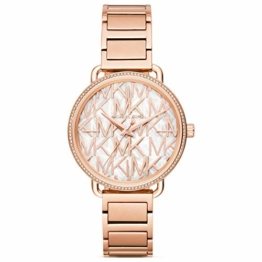 Michael Kors Damen Analog Quarz Uhr mit Edelstahl Armband MK3887 - 1