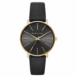 Michael Kors Damen Analog Quarz Uhr mit Leder Armband MK2747 - 1
