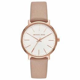 Michael Kors Damen Analog Quarz Uhr mit Leder Armband MK2748 - 1