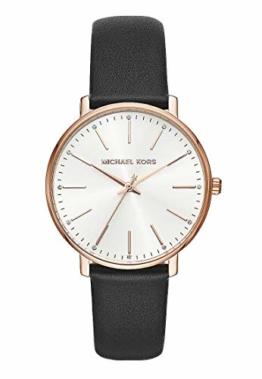 Michael Kors Damen Analog Quarz Uhr mit Leder Armband MK2834 - 1