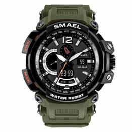 Militäruhren Männer Digital Army Watch wasserdichte 50M Sportuhren S Shock Resistant Große Uhr,E - 1