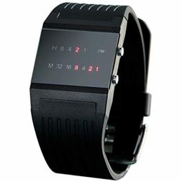 Monsterzeug Binäre Armbanduhr, Binäruhr, Uhr mit Binäranzeige, kreative Zeitanzeige, Geschenk für Männer, Maße: ca. 32 mm (Breite), 250 mm (Länge) - 1