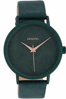 Oozoo Damenuhr Blätter Jade 42 mm C10083 - 1