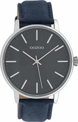 Oozoo Damenuhr mit Lederband 42 MM Blau/Blau C10044 - 1