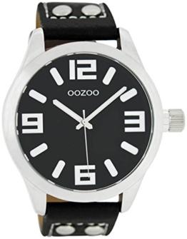 Oozoo  Damenuhr mit Lederband  C1054,schwarz, 46 MM - 1