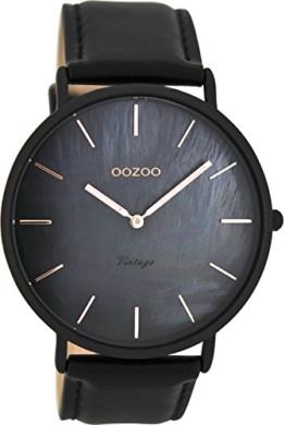 Oozoo Herren Digital Quarz Uhr mit Leder Armband C8134 - 1