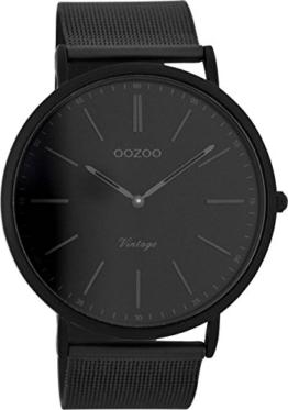 Oozoo Herrenuhr Digital Quarz mit Edelstahlarmband - C7384 - 1