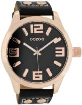 Oozoo XL Armbanduhr Schwarz/Roségold C1159 - 1