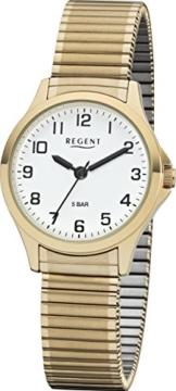 Regent 12300089 Damenuhr, Zugband, Gold - 1