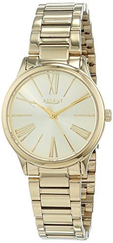 Regent Damen Analog Quarz Uhr mit Edelstahl Armband 12211018 - 1