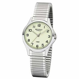 REGENT Damen-Armbanduhr analog Quarz Edelstahl-Zugband W-0070 - 1