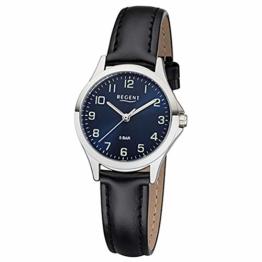 REGENT Damen-Armbanduhr analog Quarz Lederband W-0064 - 1