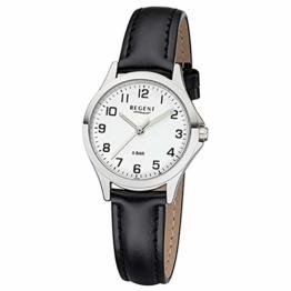 REGENT Damen-Armbanduhr analog Quarz Lederband W-0067 - 1