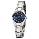 Regent Damen-Armbanduhr Elegant Analog Edelstahl-Armband silber Quarz-Uhr Ziffernblatt blau UR2253414 - 1