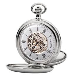 Regent - Taschenuhr - Mechanisch - Silber - Skelett - P93 - 1